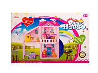 Игрушечный кукольный дом 960 с куклами,мебелью,машиной в коробке