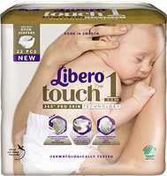 Подгузники LIBERO Touch 1 (2-5кг) 22шт