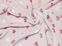 Детский махровый плед одеялко 100х90 см (мягкая, не петельная махра пушистая на ощупь) 3877 Розовый
