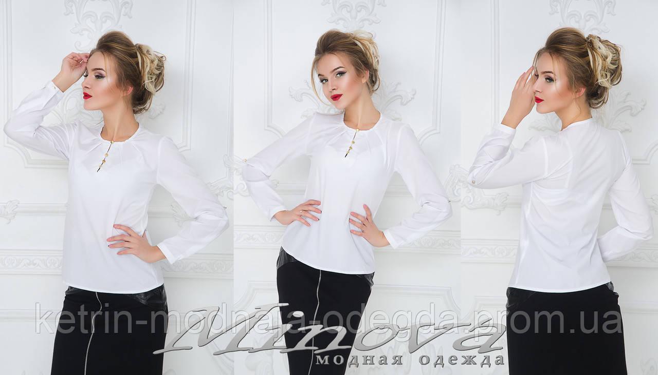 874e96dd04d Белая женская блуза рубашка с длинным рукавом
