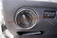 Алюминиевая рамка на переключатель света для Skoda Practik 2008