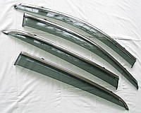 SsangYong Korando ветровики дефлекторы окон ASP с молдингом нержавеющей стали / sunvisors