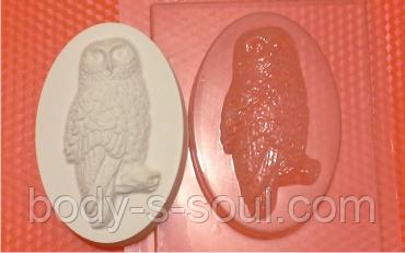 Пластиковая форма для мыла  сова