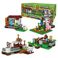"Набор из 4-х конструкторов Minecraft - ""My World"""