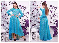 Платье вечернее с ассиметричной юбкой 22590