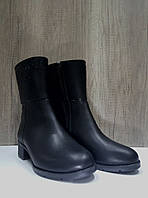 Полусапожки  женские зимние из натуральной кожи Foletti на низком каблуке