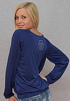 Женская кофта синяя, фото 1
