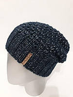 Женская шапка-чулок из полушерсти на флисе внутри 13374AK