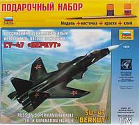 1:72 Сборная модель самолета Су-47 'Беркут', подарочный набор Звезда 7215