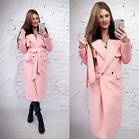Зимнее удлиненное пальто классического стиля с мехом на воротнике (в расцветках) 13391JP