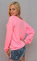 Женская кофта розовая
