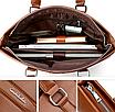 Мужская сумка кожаная Fedika Bolo Коричневая, фото 5