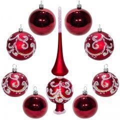 Новогодние елочные игрушки, шары и верхушки