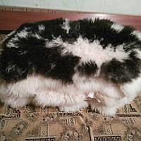 Овечья шкура натуральная. Длинный ворс,густой 85*60 см ворс 12 см черно-белая эксклюзив