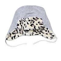 Детская теплая зимнняя шапочка для новорожденных 0-3 месяца