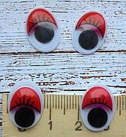 Очі для іграшок, 12х16мм., 2шт. червоні