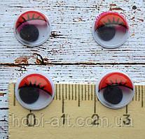 Очі для іграшок, 12мм., 2шт. червоні