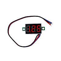 Вольтметр цифровой постоянного тока DC 0-100V три провода - Красный