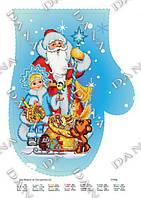 "Схема под вышивку ""Дед Мороз и Снегурочка 3"""