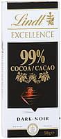 Французский Шоколад Шоколад Lindt Еxcellence 99% горький 50 грамм