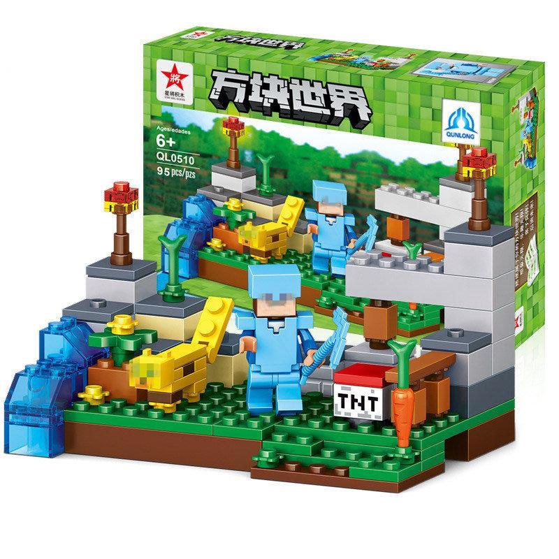 """Конструктор Minecraft - """"Стив и его Кот"""""""