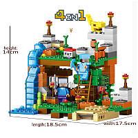 Набор из 4-х конструкторов Minecraft