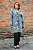 Пальто женское большого размера Букле классика
