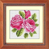 Алмазная вышивка набор Букетик роз R15x15 (полная выкладка, квадратные камни)