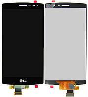Дисплей (экран) + сенсор (тач скрин) LG G4s Dual H734, H736with touchscreen black (оригинал)