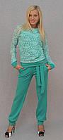 Брючный костюм женский мята, фото 1