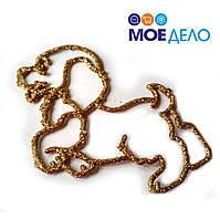 Игрушка на ёлку - Собака - символ года (10*7 см) -10 шт/упак - цвета в ассортименте