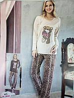 "Теплая пижама DiKa ""мишка с сердцем"". Размер 46"