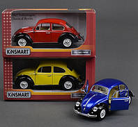 Машина металлическая Kinsmart KT7002WE 1967 Volkswagen Classical Beetle (Black Fender)