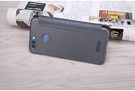 Кожаный чехол (книжка) Nillkin Sparkle Series для Huawei Nova 2