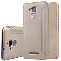 Кожаный чехол (книжка) Nillkin Sparkle Series для Asus Zenfone 3 Max (ZC520TL)