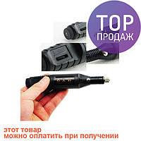 Машинка для полировки ногтей маникюра педикюра фрезер MM 300 Black / набор для ухода ногтей