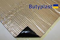 Виброизоляция Butyplast 1,5мм 350х500мм, 100мкм, фото 1