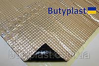 Виброизоляция Butyplast 1,5мм 350х500мм, 100мкм