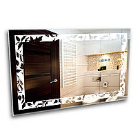 Дзеркало в ванну кімнату з LED - підсвіткою StudioGlass   6-17