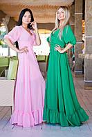 Женское платье макси с декольте, фото 1