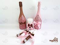 """Весільний набір """"Dodo"""" (Коричневий-рожевий)"""