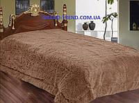 Меховое покрывало полуторного размера East Comfort - коричневого цвета