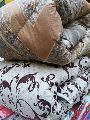 Зимнее стеганное одеяло овчина полуторное бязь, фото 2