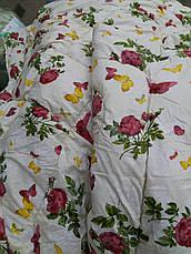 Зимнее стеганное одеяло овчина полуторное бязь, фото 3