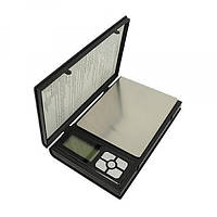 Мини-весы электронные notebook 1108-2 / 6296-1, ювелирные, 0,1г-2кг, меры веса g/gn/oz/ct/pcs, функция тары