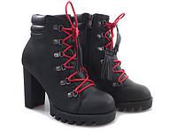 Элегантные ботильоны, ботинки с красными шнурками