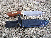 """Нож эксклюзивный Спутник """"Тигр"""" с прочным клинком и удобной деревянной рукояткой ,эксклюзив"""