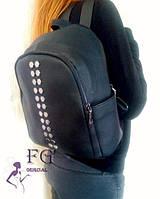 Городской женский рюкзак изготовлена из качественного кожзама