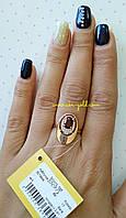 Золотое кольцо с гранатом , арт.3909 гр.