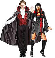 Карнавальный Универсальный Плащ Мантия Вампира из Трансильвании Красно-Черная Мантия для Вечеринки